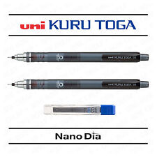 2 x UNI KURU TOGA SELF SHARPENING LEAD DRAWING MECHANICAL PENCIL - SMOKE + LEADS