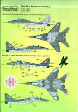 Model Maker Decals 1/72 MIKOYAN MiG-29 Fighter in POLISH SERVICE Part 2
