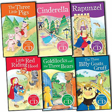 My First Fairytales Story Time and CD 6 Books Collection Pack Set-Rapunzel,Cind
