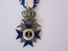 German WWI Bavarian Order of Military Merit - 3rd class Crown and Swords Silver