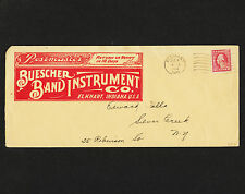 1917 Buescher Band Instument Co. Illustrated 2 sides Advertising Perfin Cover