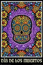 DOD SUGAR SKULL POSTER Day of the Dead Print Hardwick Candy Mexico NEW Licensed