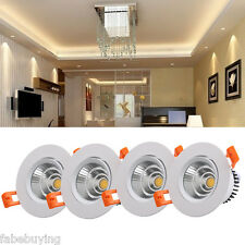 4x 3W Warm White LED COB Recessed Ceiling Spot Light Downlight Spotlight Lamp US
