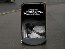 Men's Barber Shop Pavement Sign - Hairdressing Sign printed in Full Colour -
