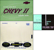 1963 Chevy Nova Convertible Owners Manual Set of 3 Owner Guide Top Book Envelope