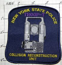 NEW YORK STATE POLICE COLLISION RECONSTRUCTION PATCH - CHOOSE FROM 5 TROOPS