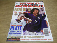 Football Magazine World Soccer January 1995 Maldini Platt Kluivert Laudrup Piero