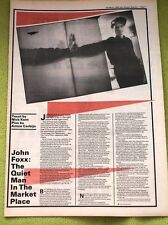 JOHN FOXX 'the quiet man' 1980 2 page UK ARTICLE / clipping