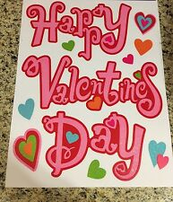 Happy Valentines Day Heart Window Clings Cupid Wreath Swag Pick Spray Decor Gift