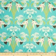 1YD CHLOE BIRDS & ORCHIDS Barn Swallow Flowers Tanya Whelan Free Spirit AQUA