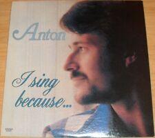 ANTON H. DISSELKOEN I SING BECAUSE ALBUM GOSPEL VOCAL PRIVATE LABEL AD-5431