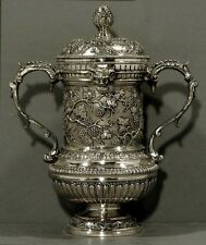 English Sterling Cup & Cover     1777        SATYR HEADS                 36OZ