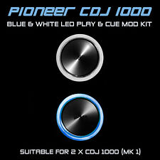 PIONEER CDJ 1000 MK1 Blue & white PLAY E CUE LED MOD KIT (per 2 x cdjs)