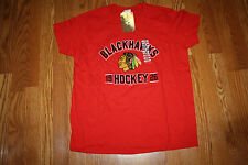 NWT Official Licensed NHL CHICAGO BLACKHAWKS 1926 Hockey Red T-Shirt L Large