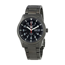 Seiko 5 Sports Black Dial Gunmetal Mens Watch SNZG17