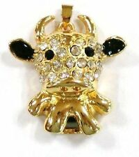 USB Stick 4GB Jewellery KUH Calf Bullock Rhinestone golden Beef