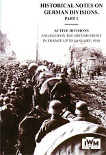 HISTORICAL NOTES on GERMAN DIVISIONS ENGAGED on THE BRITISH FRONT in FRANCE