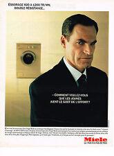 PUBLICITE ADVERTISING 064  1985  MIELE   lave linge machine à laver