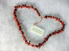Red coral necklace with sterling silver clasp