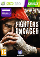 FIGHTERS UNCAGED KINECT GAME ~ XBox 360 (in Great Condition)