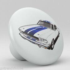 Ford Mustang Ceramic Knobs Pulls Kitchen Drawer Dresser Cabinet 1151 Vanity