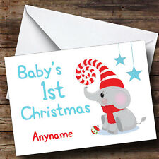 Elephant Baby's SD Personalised Christmas Card