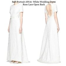 Self-Portrait Wedding dress White Rose lace 4UK