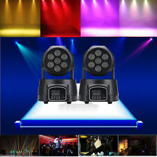 2PCS RGBW 140W LED Moving Head Stage Lighting DMX512 DJ Disco XMAS Party Light