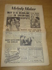 MELODY MAKER 1955 APRIL 30 BBC DISPUTE GEORGE SHEARING HARRY ROY LEW STONE +