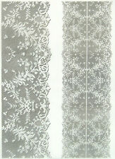 Printed Translucent/Vellum Scrapbook  Paper A/4 Lace White 2