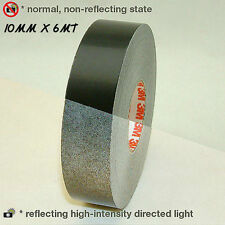 3M™ Schwarz Black Reflective Tape Reflexfolie 10mm X 6MT reflektierend new!!!!
