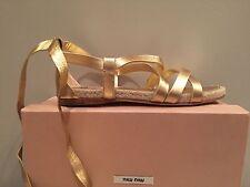 NIB MIu Miu Euro 40 US 9.5 10 Ballerina Espidralles shoes Ballet flat Wedge NEW