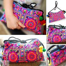 Retro Hill Tribe Purse Crossbody Bag Thai Hmong Embroidered Ethnic Hippie Boho