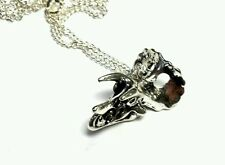 Triceratops dinosaur skull pendant necklace 18 inch chain