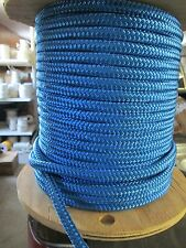"1/2"" X 100' Halyard sail line ,anchor rope polyester double braid 8500 lb USA ,1"