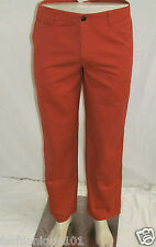 NWT DOCKERS MENS OFF THE CLOCK D2 KHAKI STRAIGHT FIT ORANGE CHINO PANT 32x30