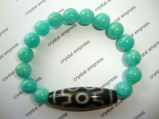 FENG SHUI - 7 EYE DZI WITH 10MM AMAZONITE