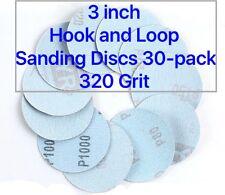 3 inch  Hook and Loop Sanding Discs 30/pk 320 Grit