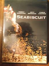 Like New DVD Seabiscuit Tobey Maguire Jeff Bridges Elizabeth Banks Fullscreen