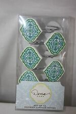 Shower Curtain Hooks Set Of 12  NEW NWT Dena Home Floral