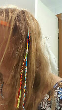 CLIP IN HAIR HIPPIE FRIENDSHIP BRACELETS COLOURFUL  REMOVABLE BRAID EXTENSIONS