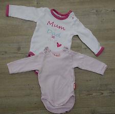 Set Paket 2 Langarm Baby Bodies für Mädchen in 56 Sterntaler Neugeborene Body