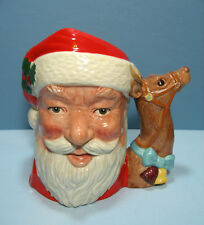"Royal Doulton D6675 ""Santa Claus"" with Reindeer Handle Large Character Toby Jug"