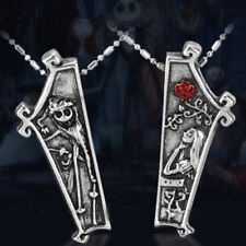 THE NIGHTMARE BEFORE CHRISTMAS Necklace Set Jack and Sally Coffin Couple Friends