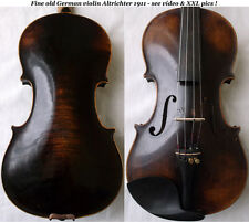 FINE OLD GERMAN VIOLIN Altrichter 1911 -see video ANTIQUE RARE バイオリン скрипка 580