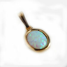 9ct Yellow Gold Reconstituted Opal Pendant -Gift Boxed