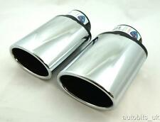 UNIVERSAL SPORT CHROME TWIN  EXHAUST TAIL TIP MUFFLER PIPE PIPES TRIM NEW 428