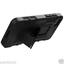 BlackBerry Z10 Hybrid C Armor Case Skin Cover w/ Kickstand Black