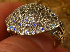 VICTORIAN RING REPRODUCTION WITH WITH MOONSTONE