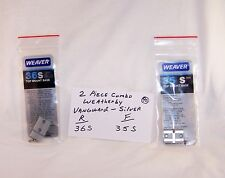 Weaver Bases 36s&35s Weatherby Vanguard - Silver - ZOOM on Chart for OTHERS